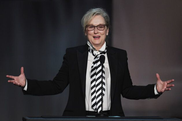 Silver and sophisticated for Meryl Streep.