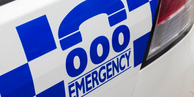Emergency number 000 in Australia on a police