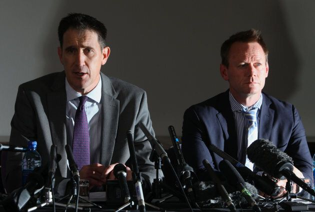 Howard, right, alongside Cricket Australia chief executive James