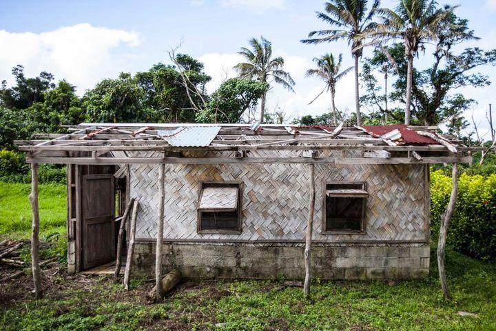 Original building of Loubukas Kindergarten destroyed in Cyclone Pam.