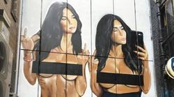 There's Another Giant Mural Of A Naked Kim Kardashian In