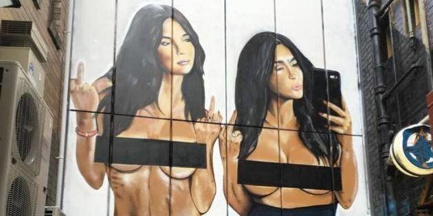 Kim Kardashian, Em Ratajkowski 'Liberated' Selfie Is Now A Giant Mural In