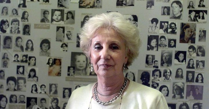 Estela de Carlotto, the president of the Grandmothers of the Plaza de Mayo.
