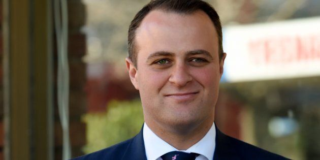 Tim Wilson got emotional talking about his fiance of seven years, Ryan, in his maiden speech to Parliament on Wednesday.