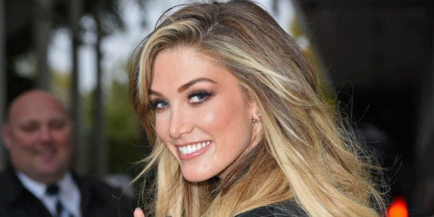 Photo by: KGC-143/STAR MAX/IPx 2015 10/5/15 Delta Goodrem is seen outside the ITV London Television Centre...
