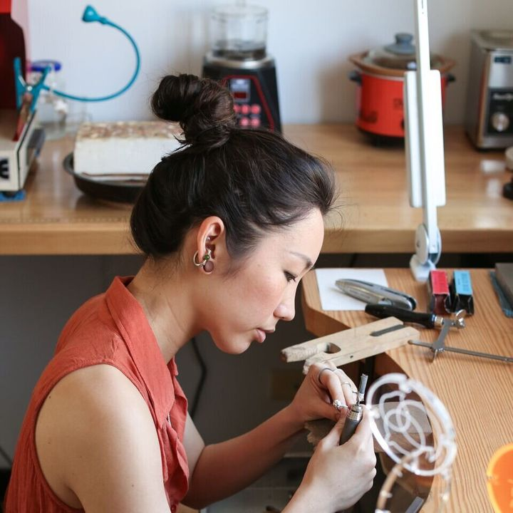 Jewellery designer and maker Fairina Cheng.