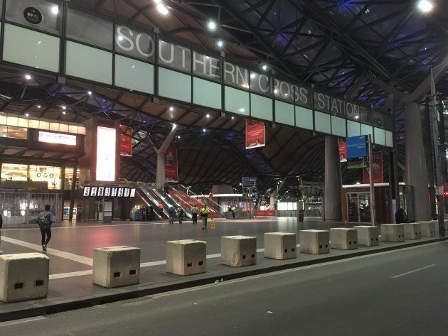 New concrete bollards installed overnight greeted Melbourne's commuters last Friday