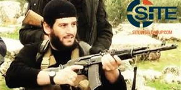This undated militant image provided by SITE Intel Group shows Abu Muhammed al-Adnani, the Islamic State militant group's spokesman who IS say was
