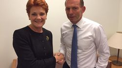 Pauline And Tony Bury The Hatchet Over A