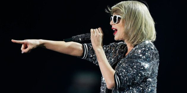 SYDNEY, AUSTRALIA - NOVEMBER 28: Taylor Swift performs during her '1989' World Tour at ANZ Stadium on...