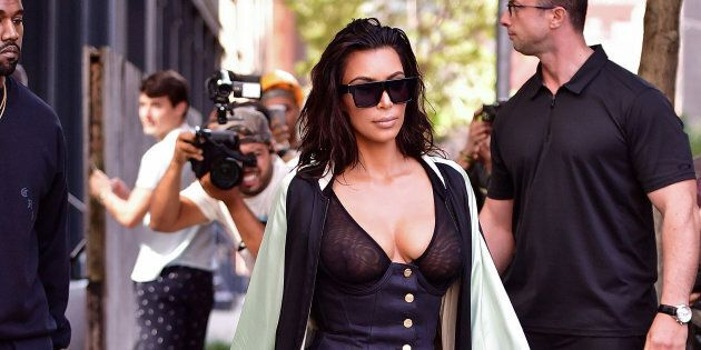 NEW YORK, NY - AUGUST 30:  Kim Kardashian seen on the streets of Manahttan on August 30, 2016 in New York City.  (Photo by James Devaney/GC Images)