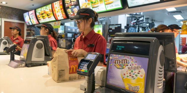 Fast food workers are among those getting their pay