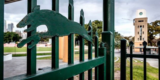 The gates are closed at Wentworth Park, Sydney,