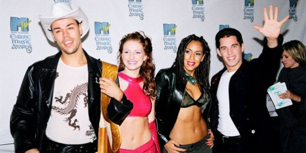 Vengaboys during 1999 MTV EMA Arrivals at The Point Depot in Dublin, Ireland. (Photo by Jeff Kravitz/FilmMagic,