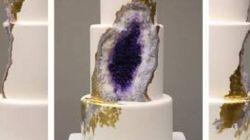 This Amethyst Geode Wedding Cake Really
