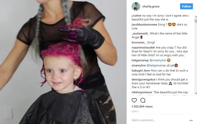 Social Media Star Charity Grace Dyes Her Daughter's Hair