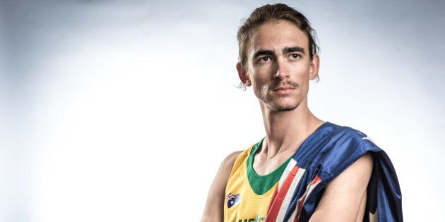 WAKAYAMA, JAPAN - AUGUST 17: High Jumper Brandon Starc of Australia poses for a portrait during a photo...