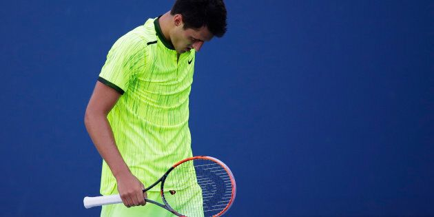 Tomic during his loss to Damir