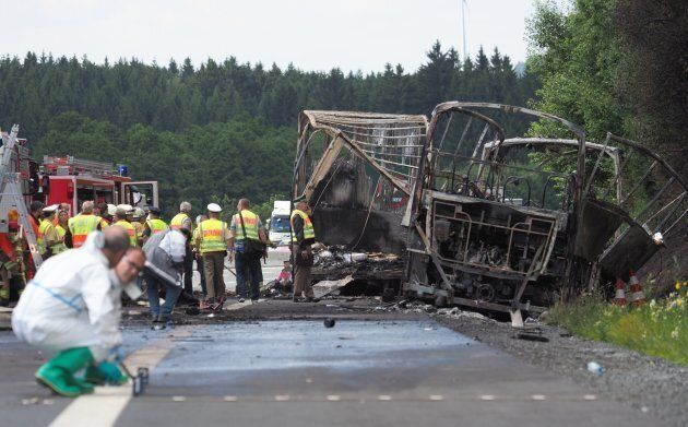 Dozens Feared Dead After German Bus Collides With