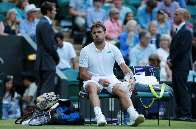 Injured and all iced-up, Wawrinka was knocked out in the first
