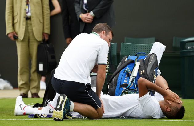 Nick Kyrgios left in agonising devastation after his premature retirement from the tennis