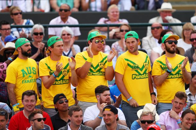 Some true blue Australian supporters dress-up in the green and