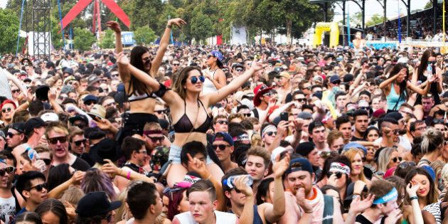 MELBOURNE, AUSTRALIA - DECEMBER 05: Huge crowds attend and revel at STEREOSONIC Melbourne on December...