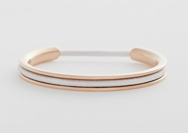 The bangle comes in three metals -- gold, silver and rose gold (pictured here).