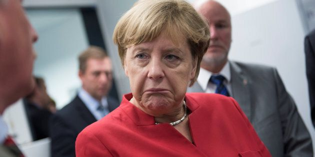German Chancellor Angela Merkel suffers devastating