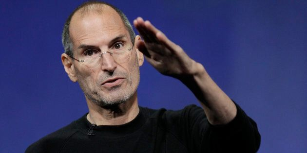 Apple CEO Steve Jobs in 2010, who was a fan of the book 'The Innovators Dilemma'.