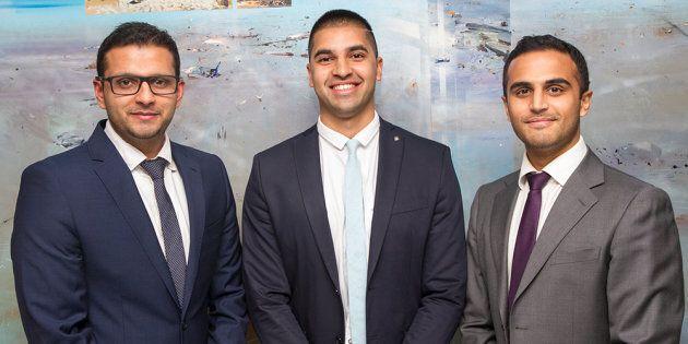 Sydney doctors Raghav Murali-Ganesh, Nikhil Pooviah and Rahul Gokarn developed the CancerAid app.