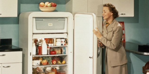 WOMAN APPRECIATING HER STOCKED