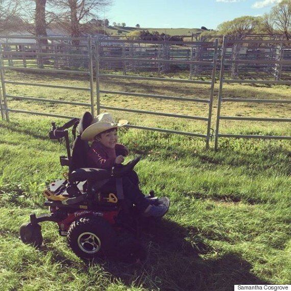 Little Cowboy Beau Cosgrove Has Rare Degenerative Condition Morquio A And Comes To Sydney Each Week For...