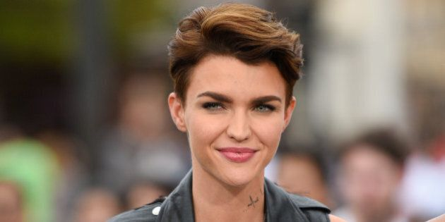 UNIVERSAL CITY, CA - JULY 08: Ruby Rose visits 'Extra' at Universal Studios Hollywood on July 8, 2015...