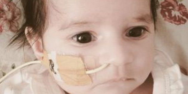 Baby Amelia was left with brain damage after she was given laughing gas instead of oxygen shortly after she was born.
