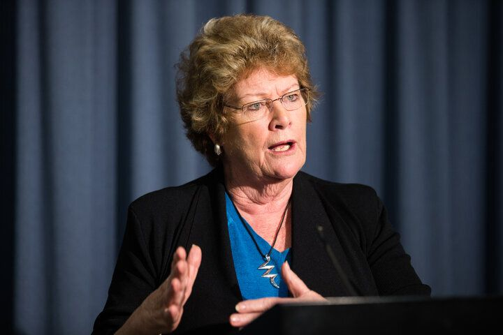 Health Minister Jillian Skinner addressing the media on the interim report into the Bankstown-Lidcombe Hospital medical gas error and the final report into the underdosing of chemotherapy patients at St Vincent's Hospital