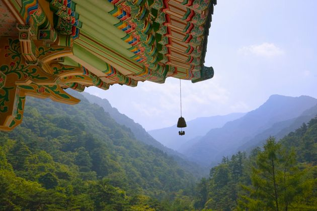 Pavilion in Myohyang Mountains, North