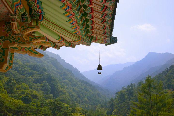 Pavilion in Myohyang Mountains, North Korea