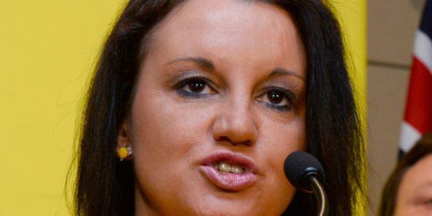 Senator Jacqui Lambie of the Palmer United Party (PUP) speaks during a press conference in Sydney on...