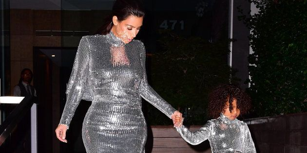NEW YORK, NY - SEPTEMBER 05:  Kim Kardashian and North West seen on the streets of Manhattan on September 5, 2016 in New York City.  (Photo by James Devaney/GC Images)
