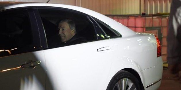 Cardinal George Pell landed at Sydney Airport at 5:55am on Monday