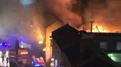 Huge Fire Breaks Out At London's Camden