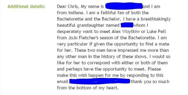 I Am NOT The Host Of The Bachelor. Stop Sending Me Weird