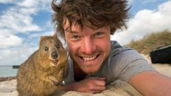 This Man's Adventurous Animal Selfies Are Making Hearts