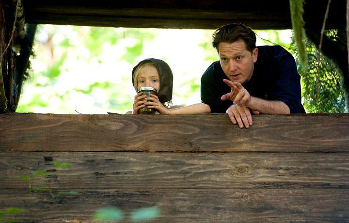 Actor Charlie Shotwell and director Matt Ross on set.