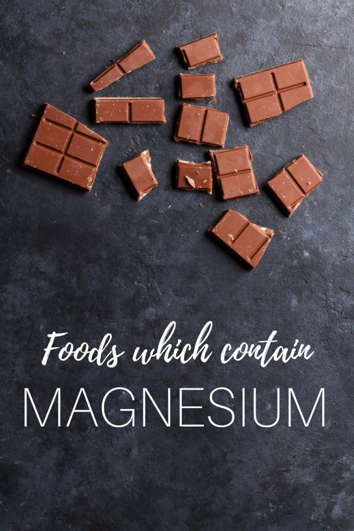 When our magnesium levels are low, we can start craving stimulants such asdark chocolate, which is a natural source of magnesium.