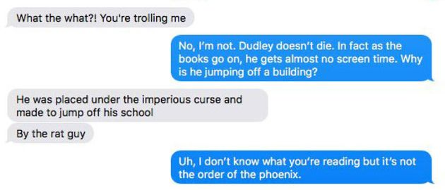 This Harry Potter Fan Found Out The Hard Way He Was Reading Fan