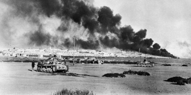 Tobruk, strategic Libyan port abandoned by the Nazis, was reoccupied by the British, Nov. 13, 1942. This...