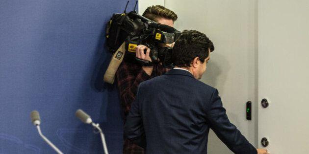 Labor Senator Sam Dastyari exits the opposition