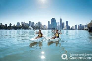 Kayaking on the river is a great way to get your bearings in
